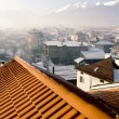 Stock Photo: Roof over Bansko ski-center in Bulgaria