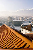 Roof over Bansko ski-center in Bulgaria — Stock Photo