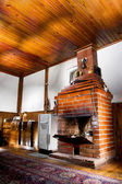 Room with a chimney — Stockfoto