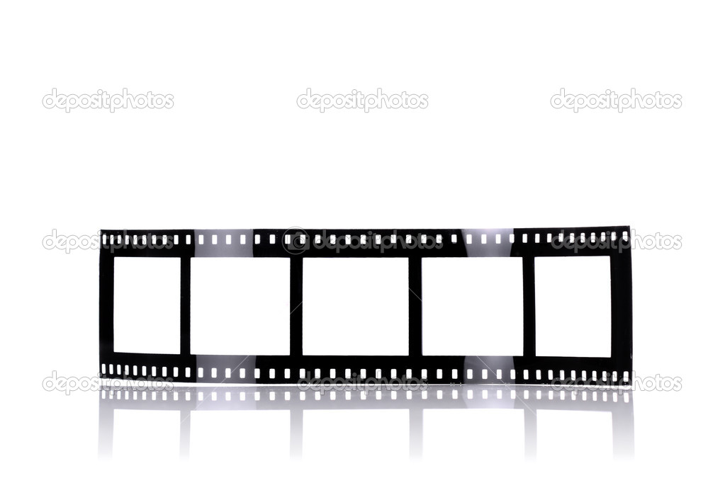 Old fashioned film-like photo frames, isolated on white — Stock Photo #2083760