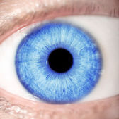 голубой глаз — Стоковое фото