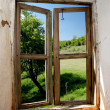 Stock Photo: View form old window