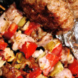 Стоковое фото: Barbeque - meat and vegetables