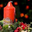 Red christmas candle — Stock Photo #2109185