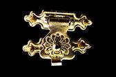 Gold lock — Stock Photo