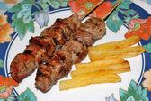 Carne e batatas — Fotografia Stock