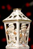 Christmas candle holder — Stock Photo