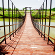 Small wooden bridge - Stock Photo