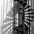 Fire escape stairs — Stock Photo #2110863