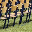 Stock Photo: Lined-up chairs