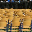 Lined-up chairs — Stock Photo