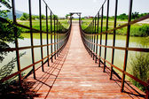 Small wooden bridge — Stock Photo