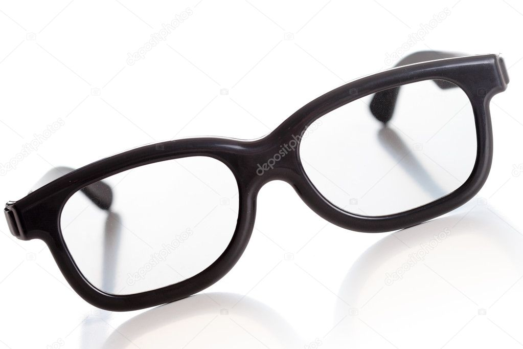 Modern 3D glasses, old fashioned look, isolated — Stock Photo #2534749