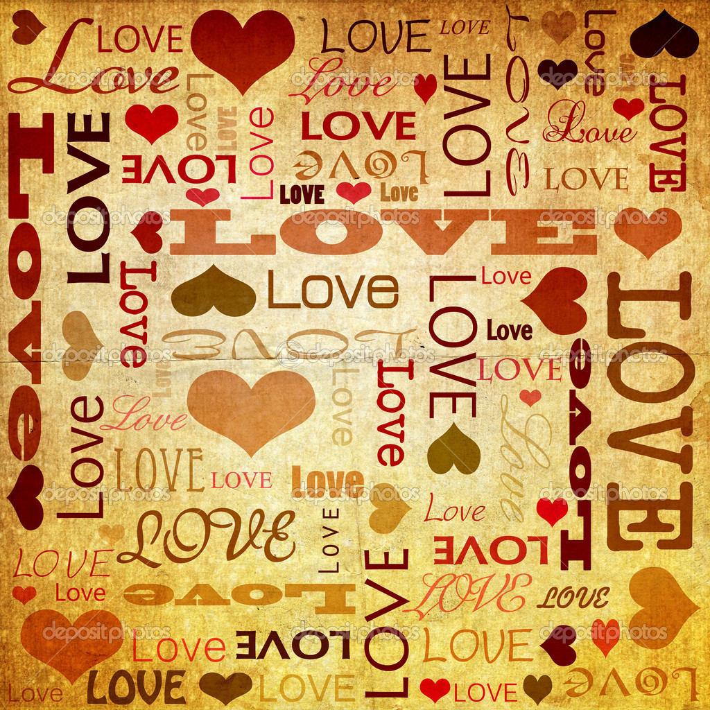Love doodles, background with full of text — Stock Photo #2006262