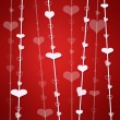 Red background with heart - Stock Photo