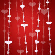 Red background with heart — Стоковое фото