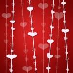 fondo rojo con corazón — Foto de Stock