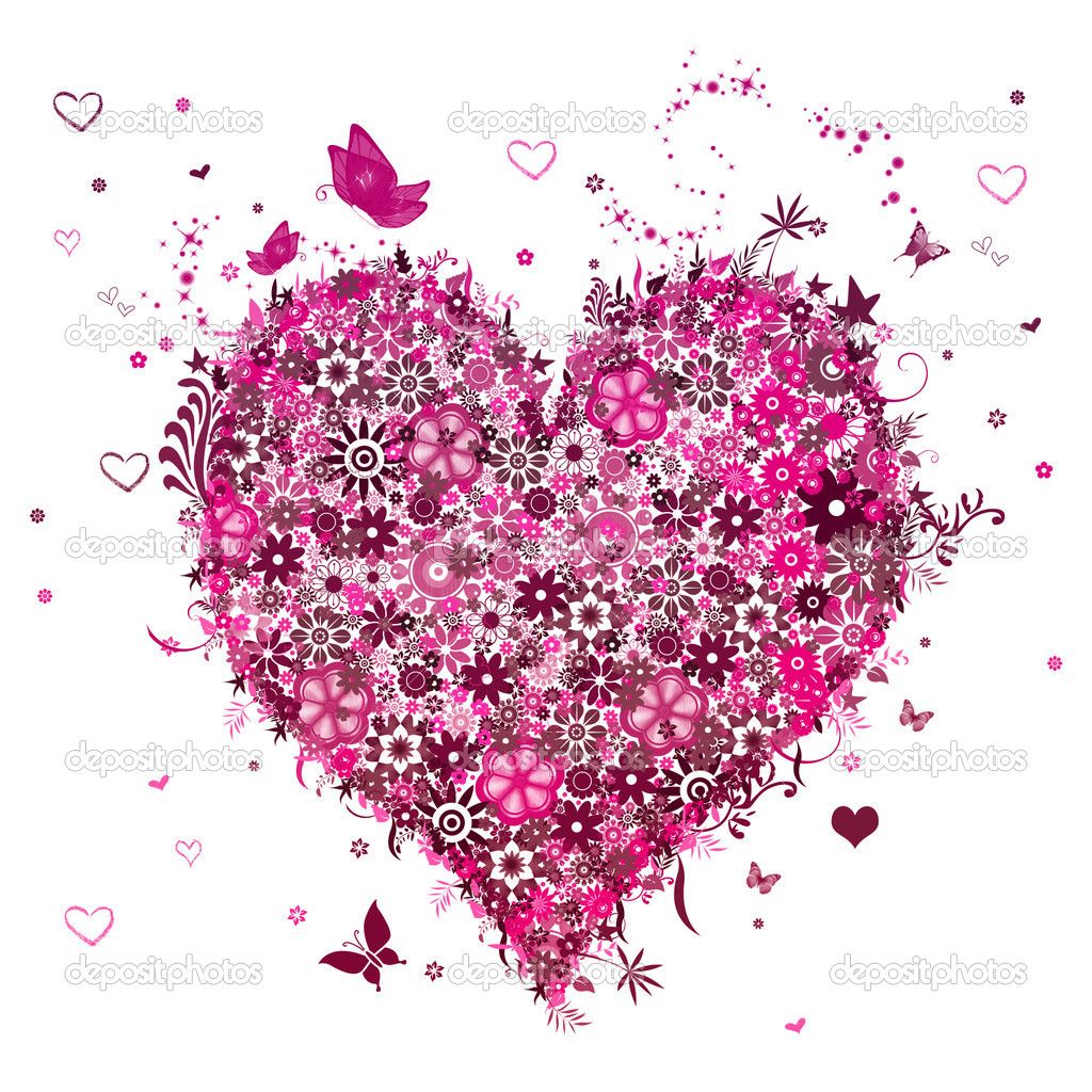 Background Valentine's Day with hearts  Foto de Stock   #2067297