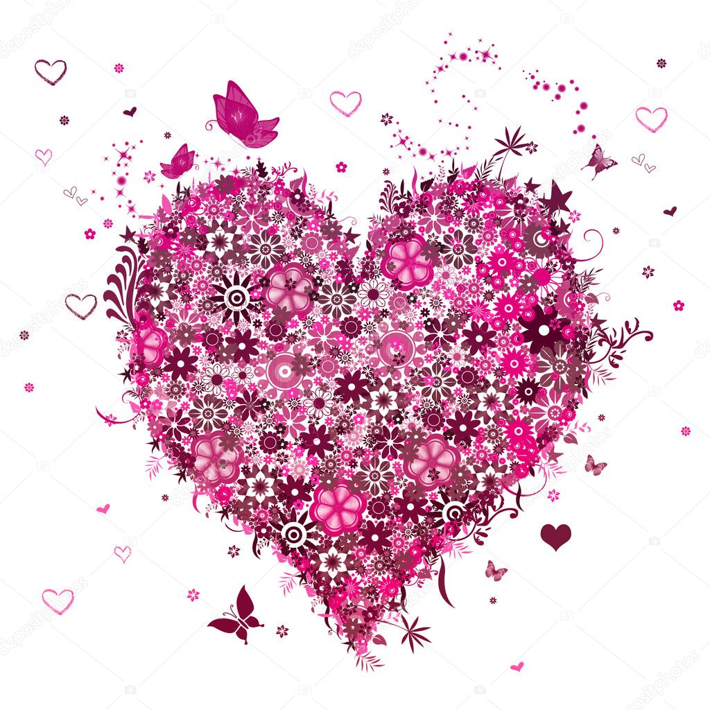 Background Valentine's Day with hearts — Foto de Stock   #2067297