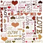 rabiscos de amor — Foto Stock