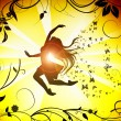 Silhouette of dancing female — Stock Photo #2076342