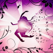 Silhouette of dancing female — Stock Photo #2076517