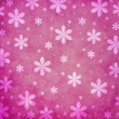 Grunge pink flower background — Stock Photo