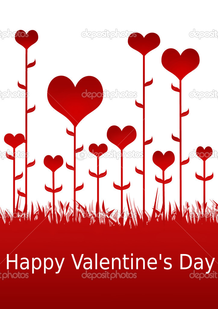 Happy Valentine's Day illustration for lovers  Stock Photo #2073754