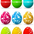 Easter Background with reflection — Stock Photo