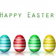 Stock Photo: Easter Background with reflection