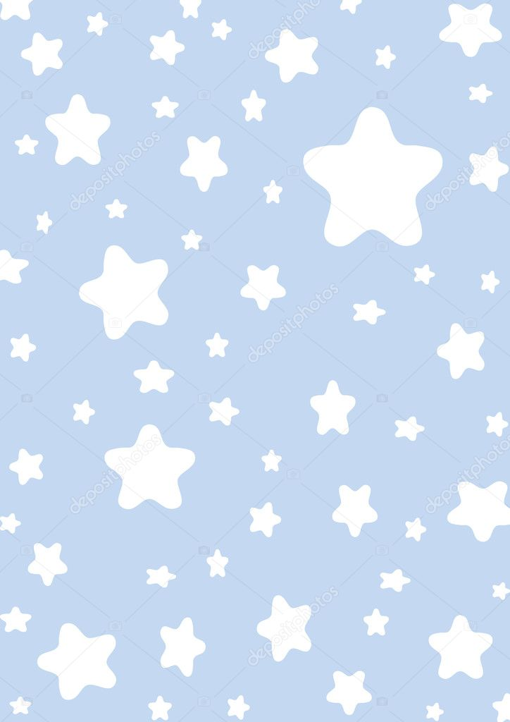 Wallpaper made from little stars over blue background  Stock Photo #2613142