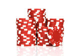 Red poker chips — Stock Photo