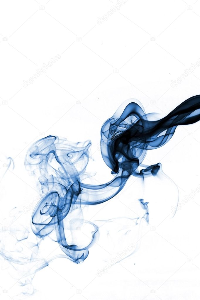 Blue smoke isolated on white — Stock Photo #2061990