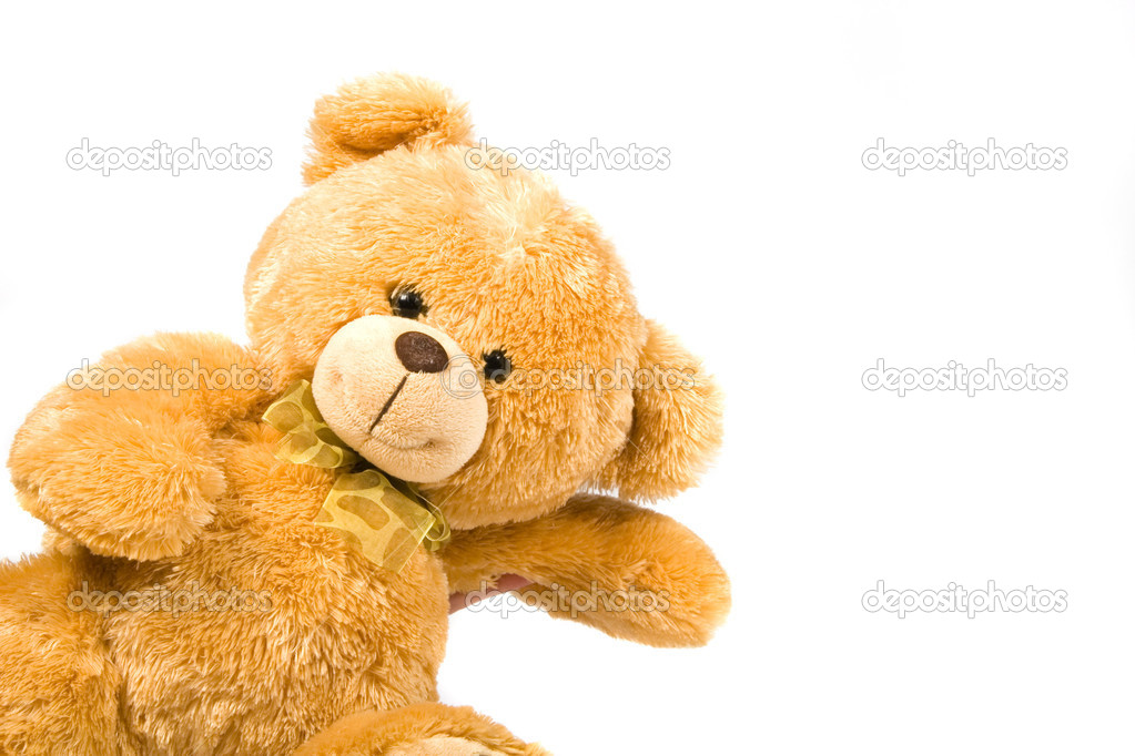 Classic teddy-bear isolated on white background — Stock Photo #2071614
