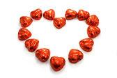 Chocholate heart — Stock Photo