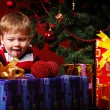 Boy with gifts — Stock Photo #2099099