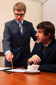 Boss and worker — Stock Photo