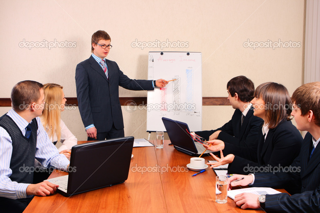 Speaker at a meeting — Foto Stock #2116092