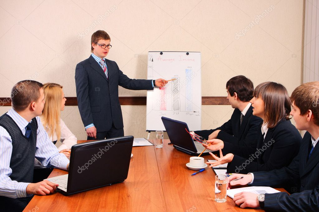 Speaker at a meeting — Stock Photo #2116092