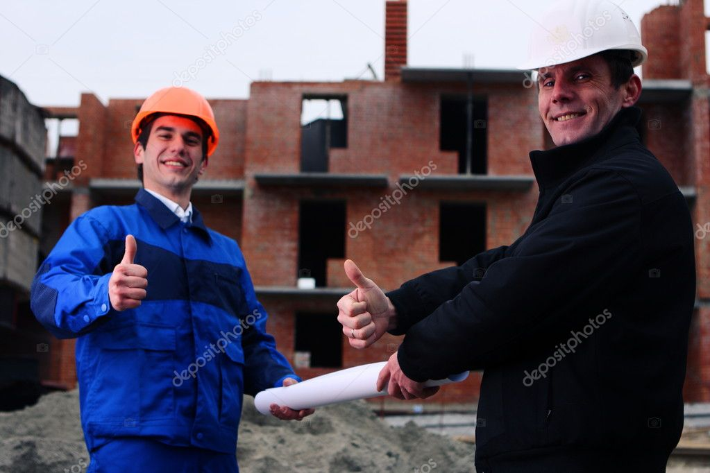 Image of two workers standing   Stock Photo #2137304
