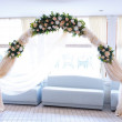 Wedding guest table — Stock Photo
