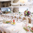 Stok fotoğraf: Wedding guest table