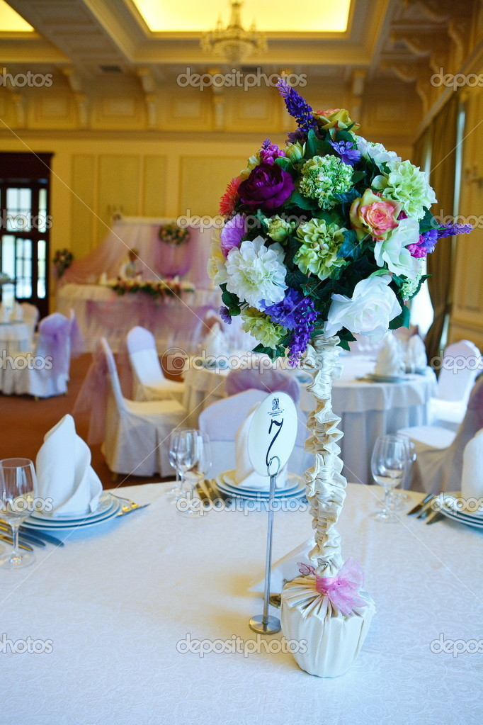 Wedding guest table  — Stock Photo #2140475
