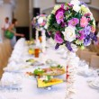 Wedding guest table — Stockfoto