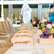 Foto de Stock  : Wedding guest table