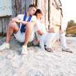Lovers on the beach — Stock Photo