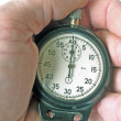 Retro a stop watch in a hand — Stock Photo #2284093