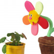 Stock Photo: Soft toy flower in pot