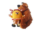 Soft toy a bear and a smilie — Stock Photo