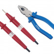Indicator of pressure colour and pliers — Stock Photo